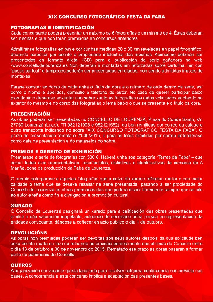 Concurso Faba 2015-2