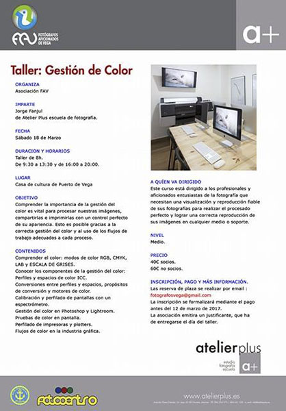 Taller Gestión de Color FAV